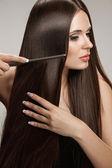 Brown Hair — Stock Photo