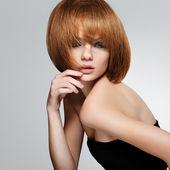 Cheveux roux. image de haute qualité. — Photo