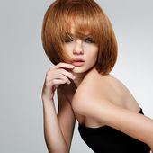 Pelo rojo. imagen de alta calidad. — Foto de Stock