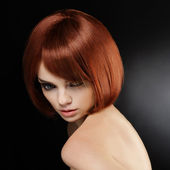 Image de qualité rouge hair.high — Photo