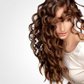 Curly Hair. High quality image. — Stock Photo