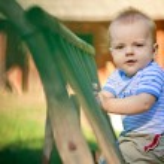 A portrait of a happy baby boy — Stock Photo