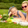 Happy family. Beautiful woman and young girl smiling. Mother day — Stock Photo