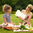 Stock Photo: Young Mother and Daughter Playing. Mother day. Happy family.