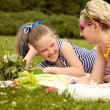 Young Mother and Daughter Playing. Mother day. Happy family. — Stock Photo #31412987