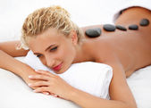 Spa Woman. Close-up of a Beautiful Woman Getting Spa Treatment. — Stock Photo