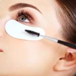 Woman eye with long eyelashes. — Stock Photo
