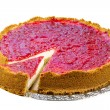Raspberry cheesecake — Stock Photo