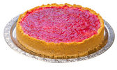 Whole homemade raspberry cheesecake — Stock Photo