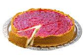 Raspberry cheesecake — Stock Photo