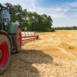 Tractor ready to plow stubble fields — Stock Photo #34268859