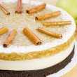 Apple cake with cinnamon sticks — Stock Photo #36034985