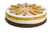 Whole apple birthday cake — Stock Photo