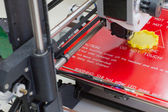Three dimensional printer in action — Stock Photo