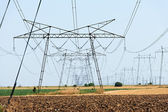 Power lines high voltage — Stock Photo