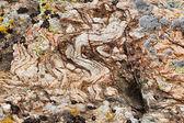 Magma rock with garnet crystals — Stock Photo