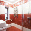 Stock Photo: modern red bathroom