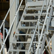 Stock Photo: Industrial zinc-coated stairs