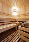 Sauna classic wooden — Stock Photo