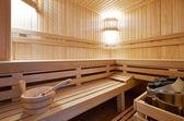 Sauna classic wooden — Stock Photo