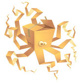 Boxtopus, isolated — Stock Vector
