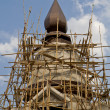 Stock Photo: Construction of temple Thai style