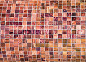 Old tiled wall grunge retro style — Stock Photo