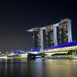 Singapore at night — Stock fotografie