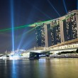 Marina bay laser show in Singapore — Stockfoto