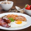 Full English breakfast — Stock Photo