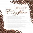 Coffee beans sample text — Stock Photo #33698703
