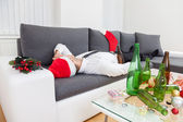 Alcohol abuse during holiday period — Stock Photo