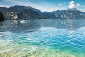 Attersee lake in Austria — Stock Photo