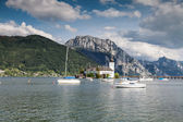 Castle on Traunsee lake  — Stockfoto