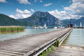 Beautiful Traunsee lake in Austria — Stock Photo