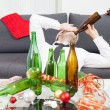 Drinking too much during Christmas time — Stock Photo #49563825