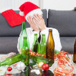 Drinking too much during Christmas time — Stock Photo #49563841