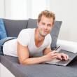 Online shopping from the confort of your home — Stock Photo