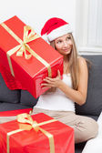 Happy to get that perfect present — Stock Photo