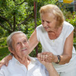 Elderly couple enjoying life together — Stockfoto #50519807