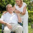 Elderly couple enjoying life together — Stockfoto #50519835