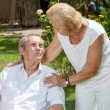 Elderly couple enjoying life together — Stock Photo