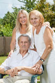 Elderly couple and their daughter — Stock Photo