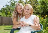 Providing care for elderly  — Stock Photo