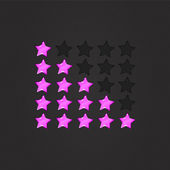 Glossy Rating Stars violet — Stock Vector