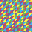 Retro Triangular Pattern Design, vector of abstract background, eps 10 — Imagens vectoriais em stock