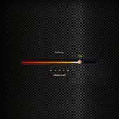 Progress bar - orange trendy design on dark background — Stock Vector