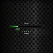 Progress bar - green trendy design on dark background — Stock Vector