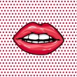 Royalty-Free Stock Imagen vectorial: Sweet Pair of Glossy Vector Lips