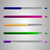 Vertical color loading bar — Stock Vector